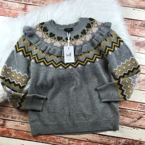 Ted Baker Sweaters - NWT ted baker fairisle jumper sweater in gray
